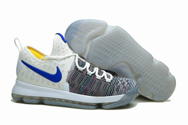 Nike KD 9 Shoes White Colors Royal Blue